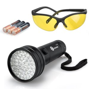 TaoTronics 51 Led UV Black Light with UV Glasses and Duracell Battery