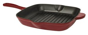 Useful UH-CI175 10 Inch Cast Iron Enamel Non-Stick Square Grill Pan Griddle