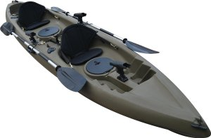 Useful UH-TK181 12.5 foot Sit On Top Tandem Fishing Kayak Paddles and Seats included