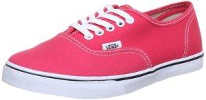 Vans Unisex Authentic Lo Pro Skate Shoes Paradise PinkTrue White Size 4.5