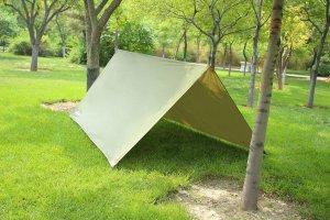 theBlueStone Rain Tarp Shelter in 10 x 10 FT for Canopy Hammock Outdoor Camping,