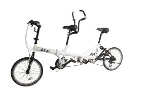Afar White 20 24 Speed Dual Derailleur System Drive Family Foldable Tandem Bicycle