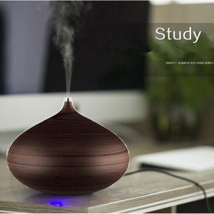 Aphse® Essential Oil Diffuser 300ML Whisper Quiet Cool mist Ultrasonic Humidifier Wood Grain Personal Diffusion with Waterless Auto Shut-off For Home,Office,Spa,Yoga