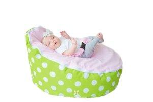 BayB Brand Baby Bean Bag - Filled - (PinkGreen)