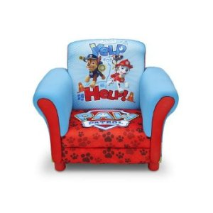 Delta UP85822PW Nickelodeon Nick Jr. Paw Patrol Upholstered Chair hardwood frame
