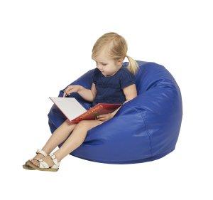ECR4Kids Classic Bean Bag Chair, Junior 26, Blue