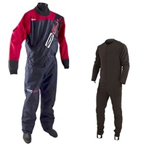 Gul Men's Gamma Front Zip Drysuit 2014 - Navy Red
