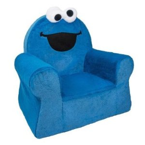 Spin Master 6022996 Sesame Street Comfy Arm Chair - Cookie Monster blue