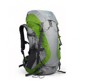 TOFINE Waterproof External Frame Packs Survival Hiking Backpack Shoulder Bag Rain Cover Green 48 Liter