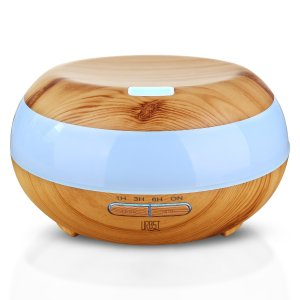 URBST 300ml Aromatherapy Essential Oil Diffuser,7color LED lights change,waterless automatic shut-off function and timing Settings,