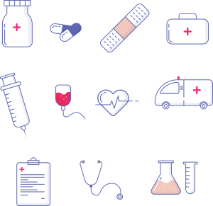 picture of different medical equipments