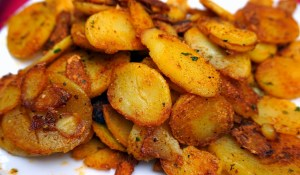 potatoes that are fried and seasoned