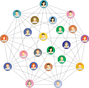 network of people connected to each other