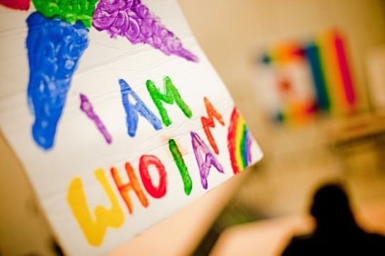 i am who i am painting
