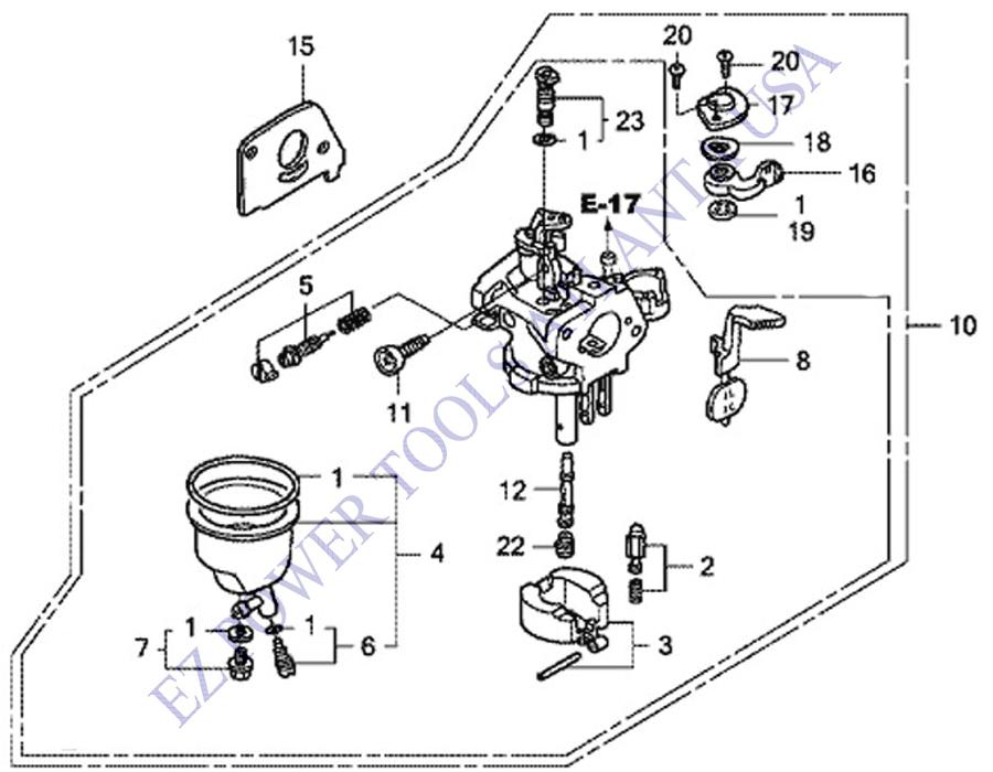 Baja Rato Hensim 2.8HP 96CC 97CC 98CC Carburetor Doodle