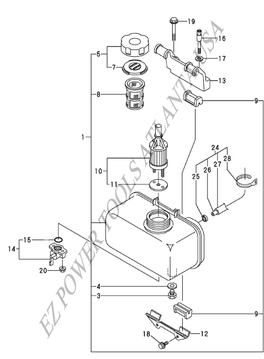 Yanmar Diesel Engine L100EE Complete Replacement Fuel Tank