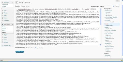 Wordpress Encrypted Footer