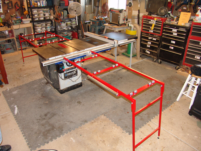 Folding Outfeed Table For Delta Unisaw