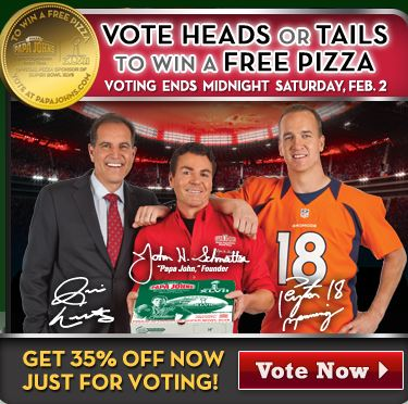 Papa johns heads or tails giveaway sweepstakes