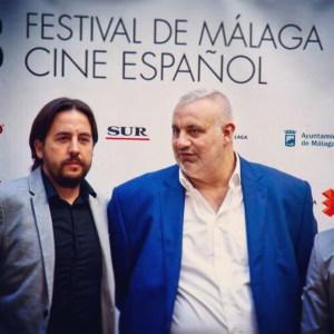 Ezekiel Montes y Phillippe Martinez , durante la presentación de Cash