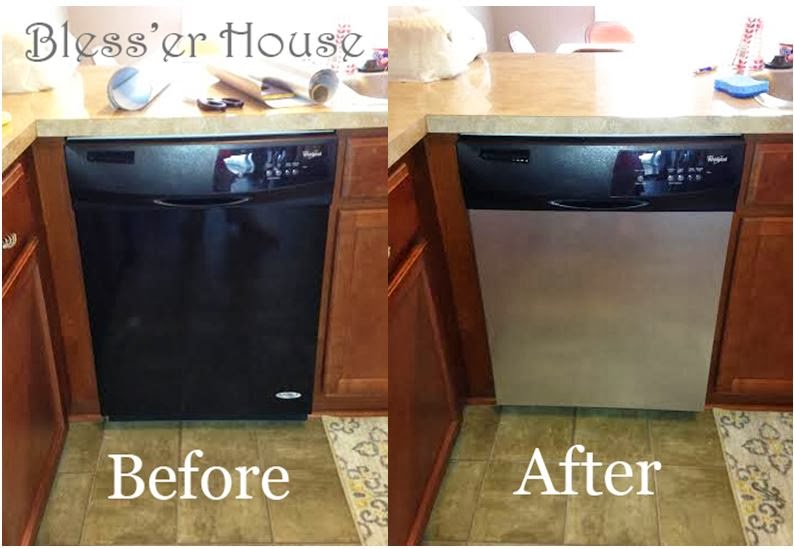 Brushed Stainless Dishwasher Cover As Seen On TV The Rachael Ray Show Peel Amp Stick BRUSHED