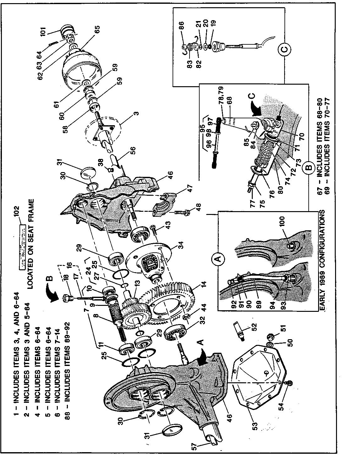 hight resolution of 35 1989 1991 gas rear axle