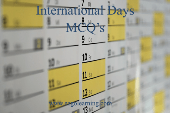 International Days Mcqs