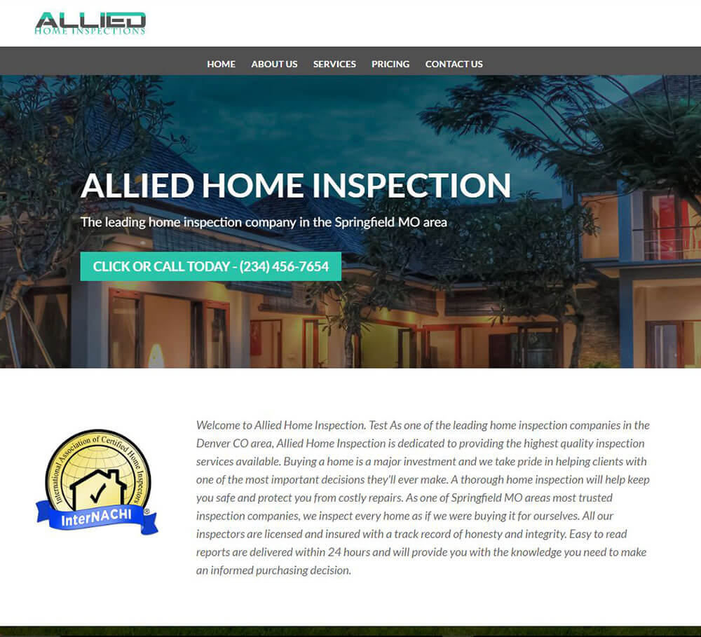 home inspection templates