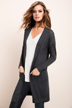 One of Suzanne's (Garment Technologist) must-haves the Emerge merino cardigan