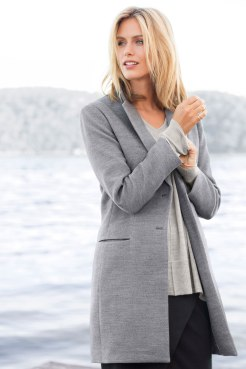 The Emerge Classic Coat: Generous shape to wear over wool. Your new coat? Style 131897