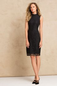 The Little Black Dress - Grace Hill Lace High Neck Dress Style Number: 145618