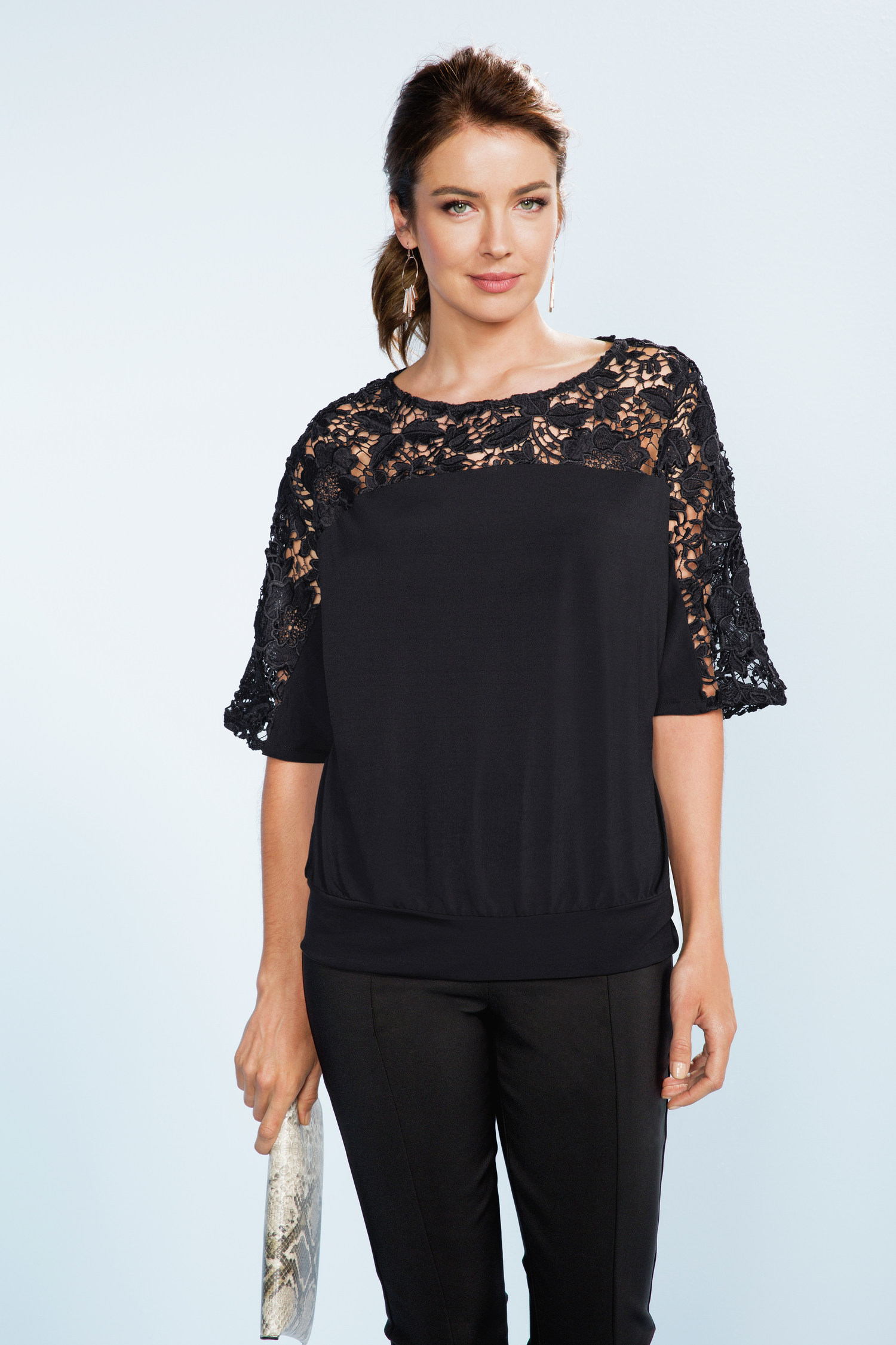 Grace Hill Lace Trim Top