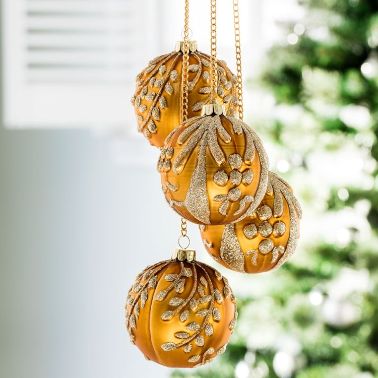 Get Christmas ready with our Gift Finder: Leaf Ball Decorations