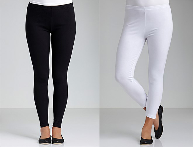 Left: Sara Full Length Leggings; Right: Sara 3/4 Leggings