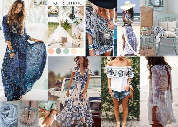 Bohemian Summer - Moodboard for our Together Trend Focus
