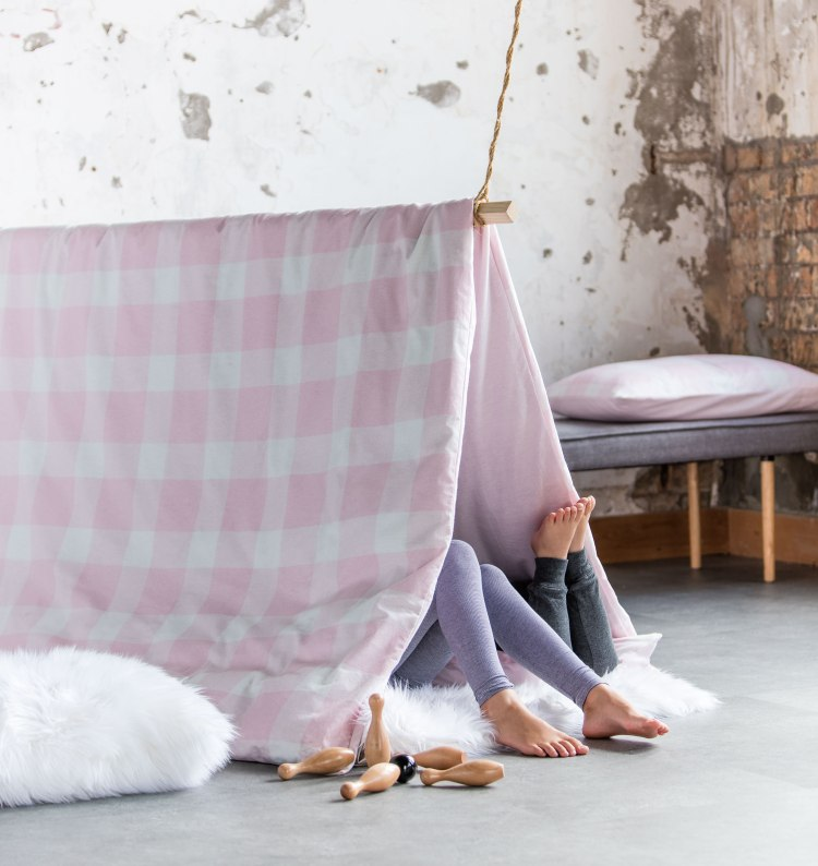 Easter Gift Ideas for Kids - make a fort from our Flannelette Duvet Cover Set
