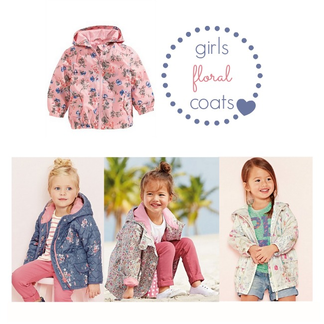 girls floral coats
