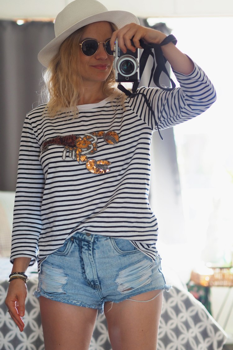 Fun for the weekend: Natalia wears Capture Embellished Tshirt