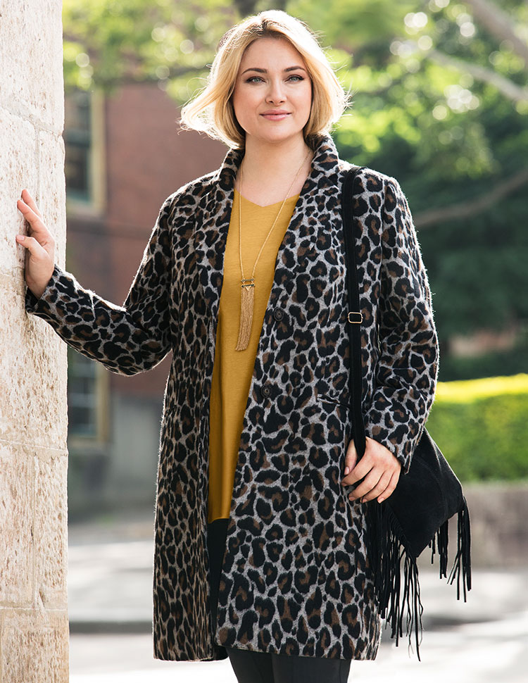 The Animal Print Statement Coat