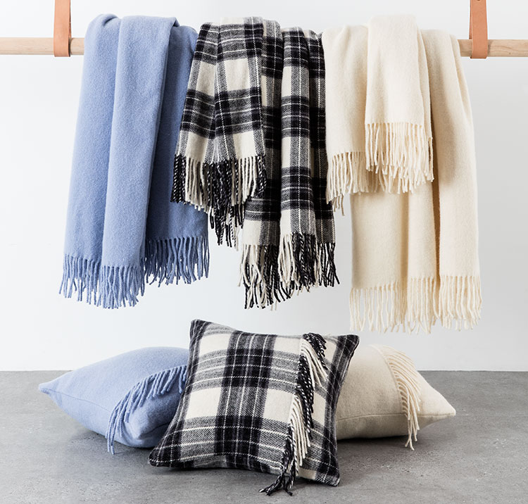Beautiful throws and cushions will keep you warm whilst you're at home in the weekend. Style 150138 and 150127
