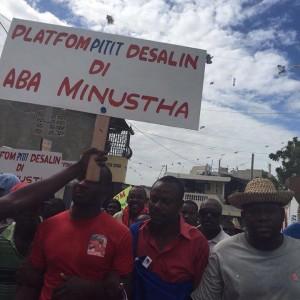 Haiti Protest Against Martelly, UN and US occupation, Jan 11, 2015 * Platfòm Pitit Desalin di ABA MINUSTAH - Desalin's descendants say Down with the UN/MINUSTAH