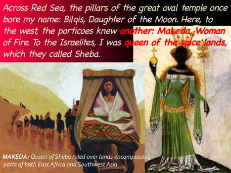 Makeda (Bilqis), The Queen of Sheba (960 B.C.)- Source: Vodun the Light and Beauty of Haiti