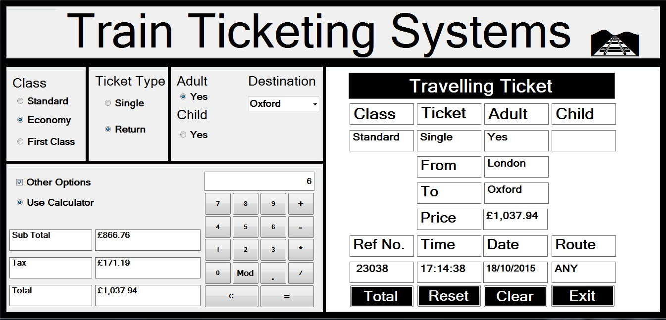 Designing And Development Of Train Seat Booking System
