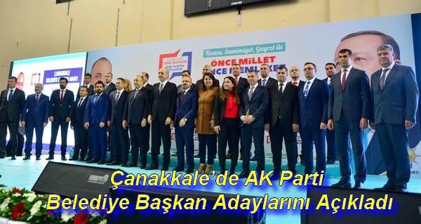 Çanakkale'de AK Parti Belediye Başkan Adaylarını Açıkladı