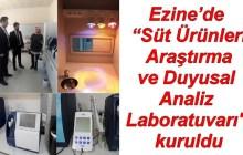 """Ezine'de """"Süt Ürünleri Araştırma ve Duyusal Analiz Laboratuvarı"""
