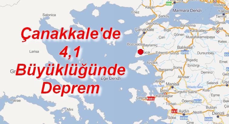 Çanakkale 4,1 Büyüklüğünde Deprem