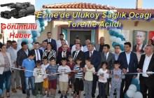 Ezine'de Uluköy Sağlık Ocağı Törenle Açıldı