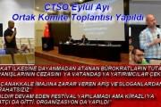 ÇTSO Eylül Ayı Ortak Komite Toplantısı Yapıldı