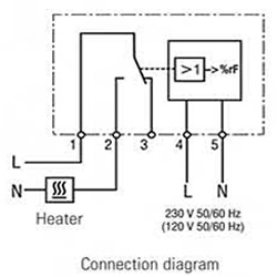 Electronic Hygrostat Temperature-compensated EFR 012