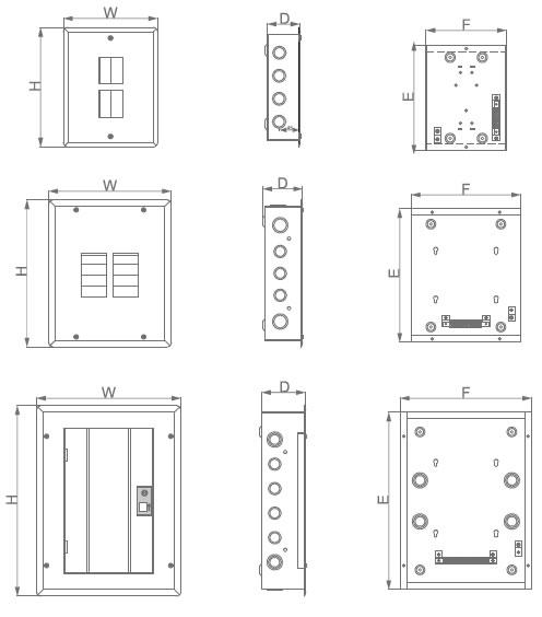 TYE8 Load center 8 pole distribution box board